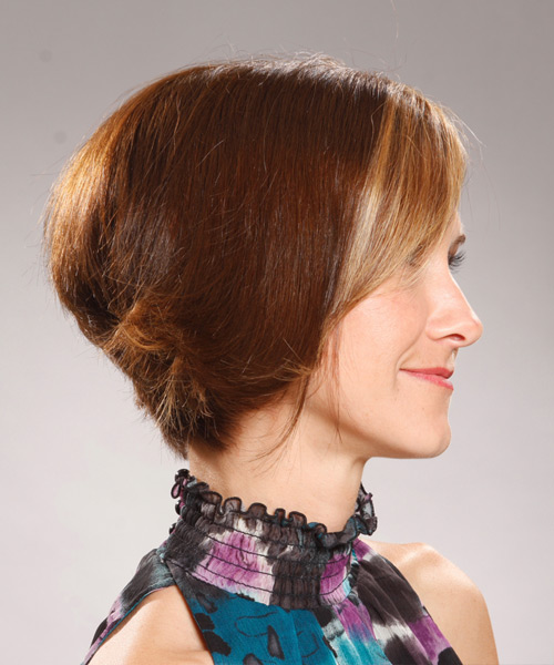 Medium Straight Formal Hairstyle - Light Brunette - side view 2