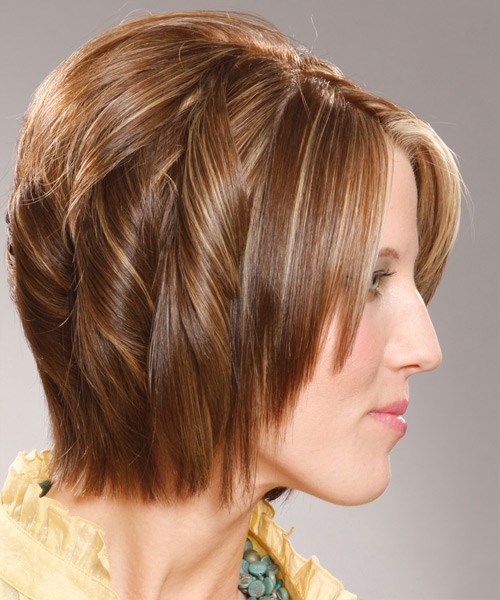 Medium Wavy Formal Hairstyle - side view 2