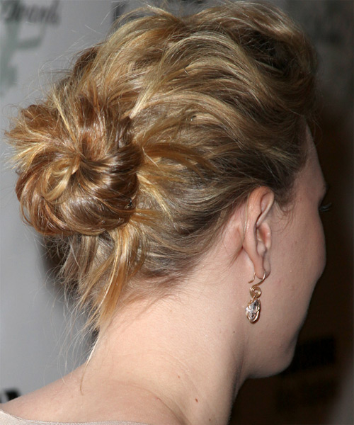 Scarlett Johansson Updo Long Curly Formal  - side on view