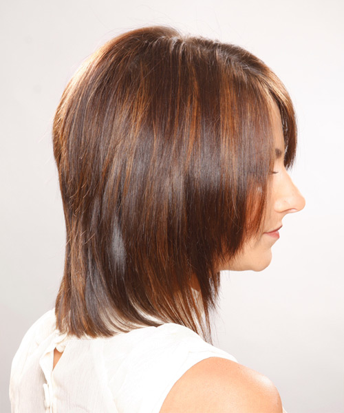 Casual Medium Straight Hairstyle - side view