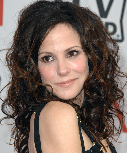 Mary Louise Parker Long Curly Casual  - side on view