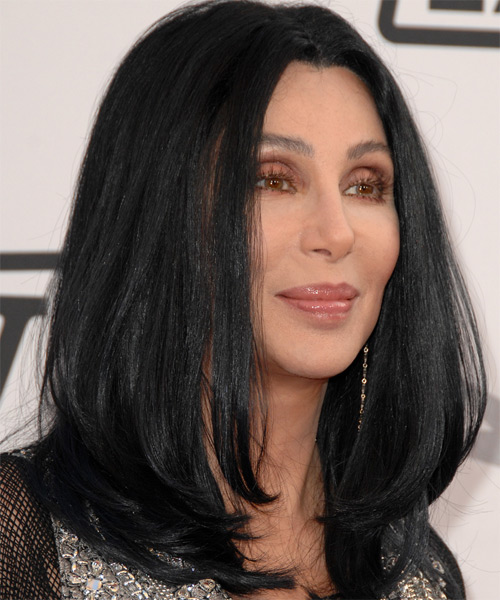 Cher Long Straight Hairstyle - side view 2