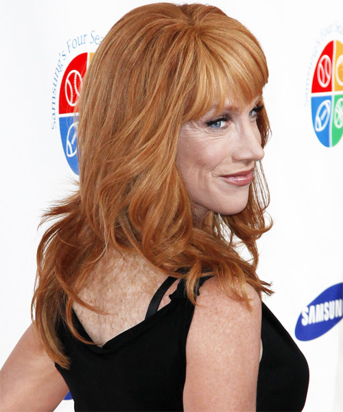Kathy Griffin Long Wavy Hairstyle - side view