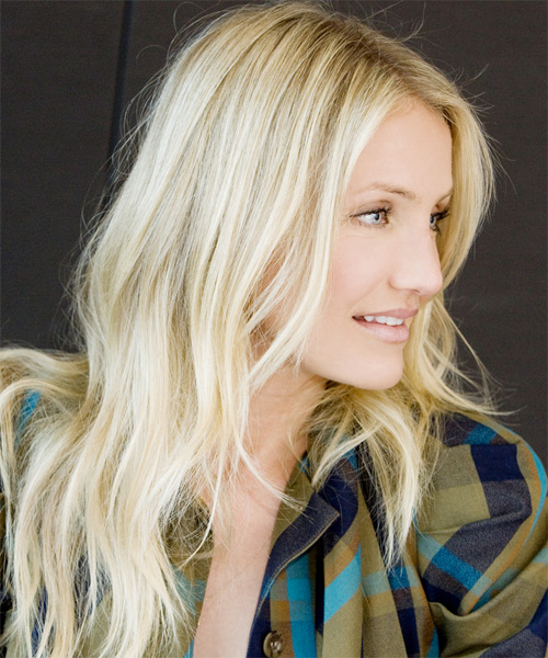 Cameron Diaz Long Wavy Hairstyle - side view 2
