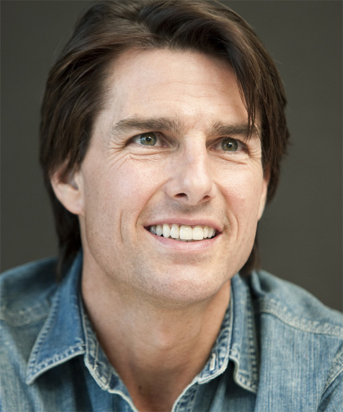 Tom Cruise Short Straight Casual Hairstyle (Chocolate) - side on view