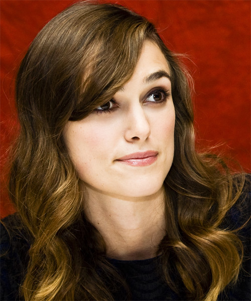 Keira Knightley  Long Wavy Hairstyle - side view 2