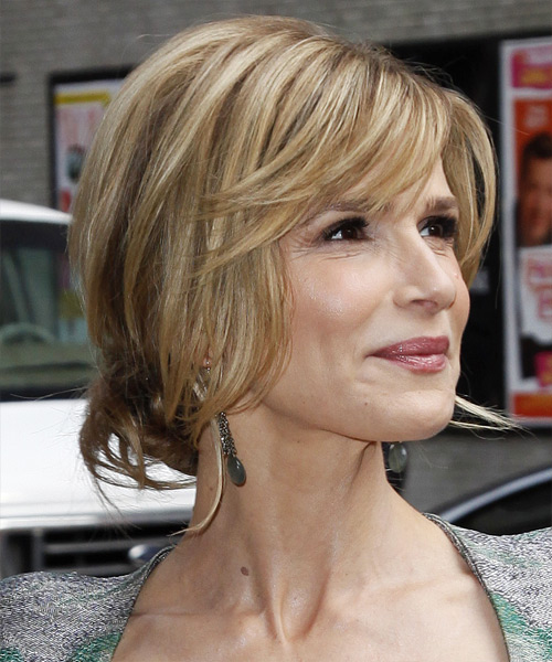 Kyra Sedgwick Casual Straight Updo Hairstyle - side view