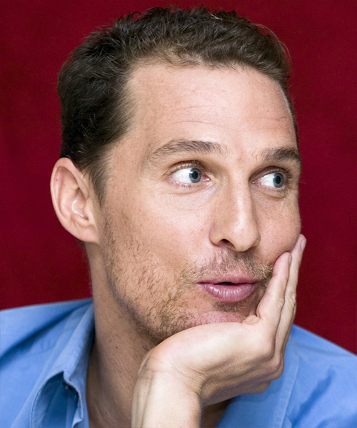 Matthew McConaughey Short Wavy Casual Hairstyle - side on view