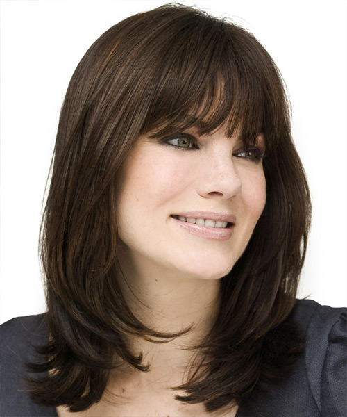 Michelle Monaghan Long Straight Hairstyle - side view 2