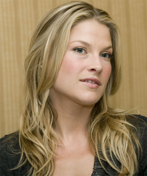 Ali Larter Long Straight Casual Hairstyle - Medium Blonde Hair Color - side on view