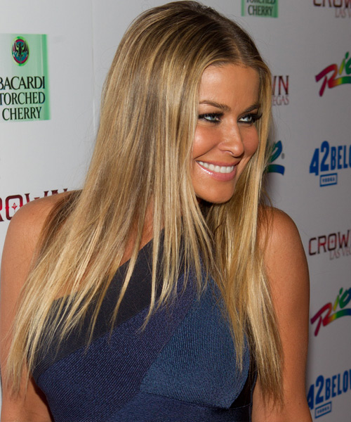 Carmen Electra Long Straight Hairstyle - side view 2