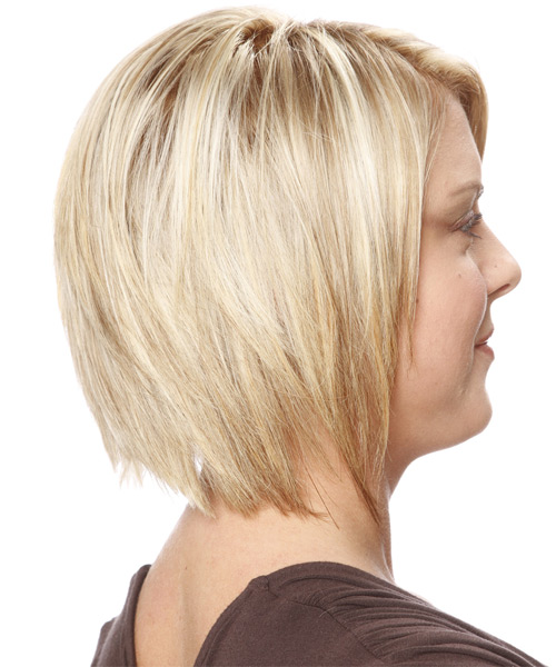 Medium Straight Casual Hairstyle - Light Blonde - side view 2