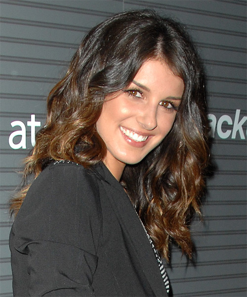 Shenae Grimes Long Wavy Hairstyle - side view
