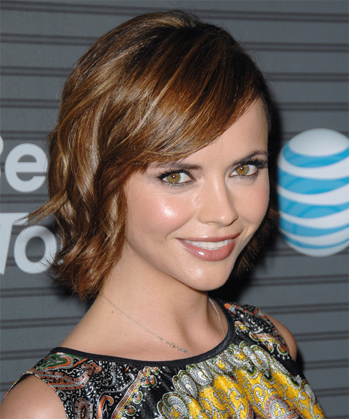 Christina Ricci Medium Wavy Formal Hairstyle - side on view