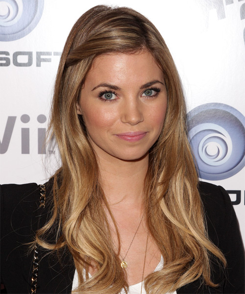 Amber Lancaster Long Straight Hairstyle - Dark Blonde - side view