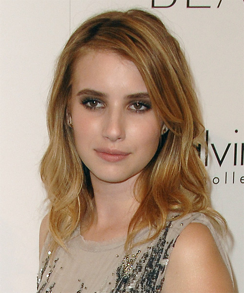 Emma Roberts Long Straight Casual  - side on view