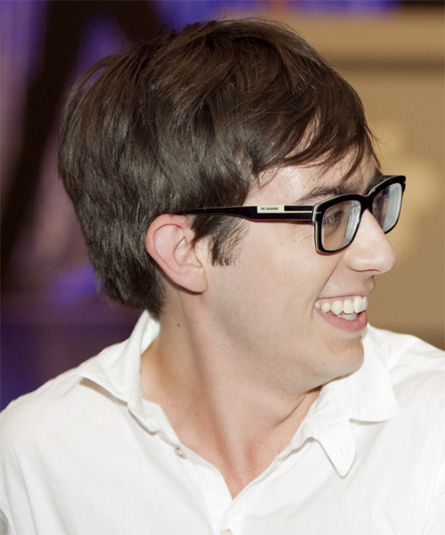 Kevin McHale Short Straight Casual Hairstyle - Medium Brunette Hair Color - side on view