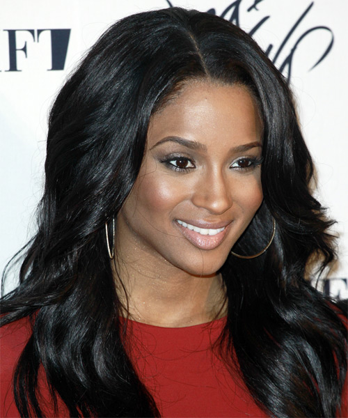 Ciara Long Wavy Hairstyle - side view