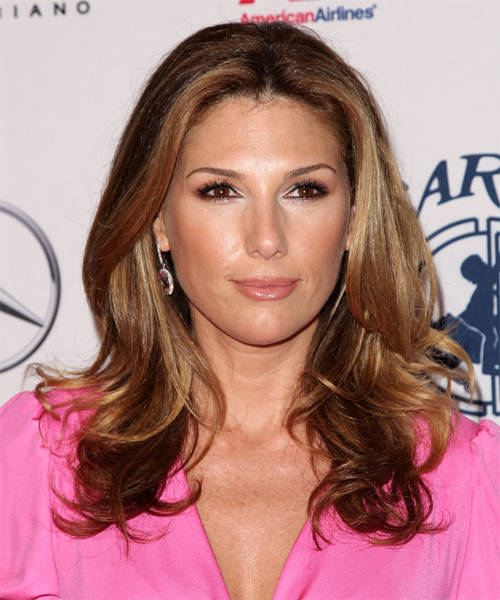 Daisy Fuentes Long Wavy Formal Hairstyle - side on view
