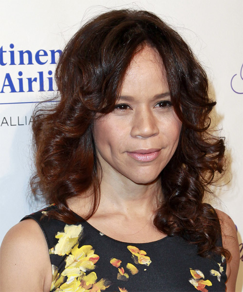 Rosie Perez Long Curly Hairstyle - side view 2