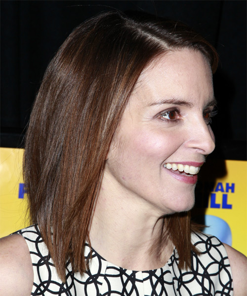 Tina Fey Medium Straight Hairstyle - side view 2