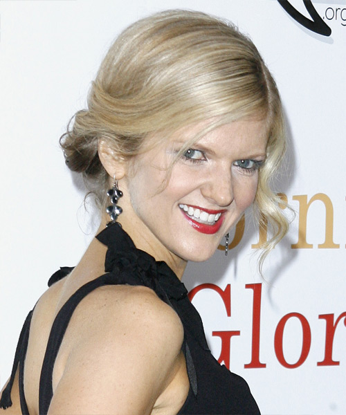 Arden Myrin Updo Long Curly Formal - side on view