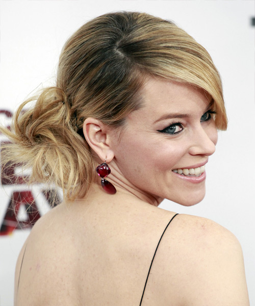 Elizabeth Banks Formal Straight Updo Hairstyle - side view