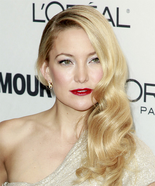Kate Hudson Long Wavy Hairstyle - side view 2