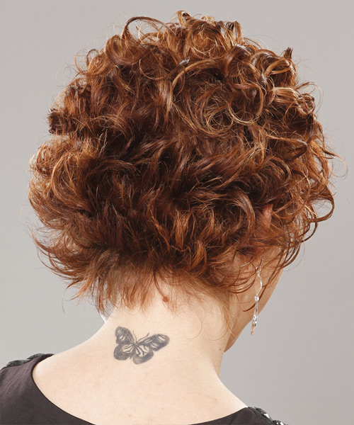 Short Curly Formal Hairstyle (Ginger) - side view 2