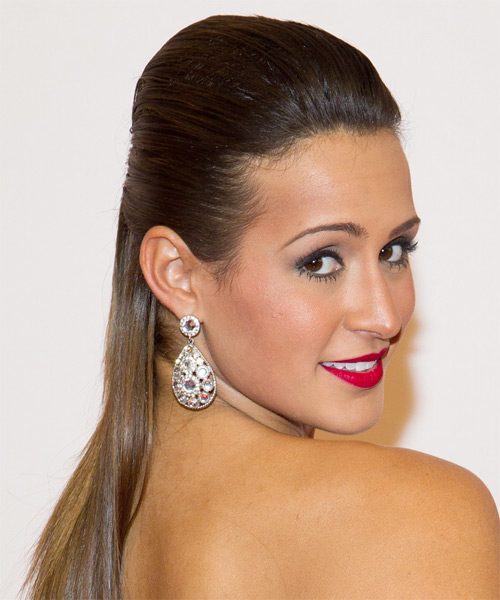 Melissa Marty Formal Straight Updo Hairstyle - side view