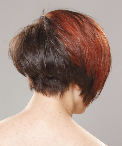 Short Straight Casual Hairstyle - Medium Brunette (Chocolate) - side view 2