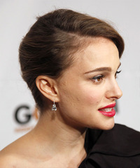Natalie Portman Updo Long Curly Formal  - side on view
