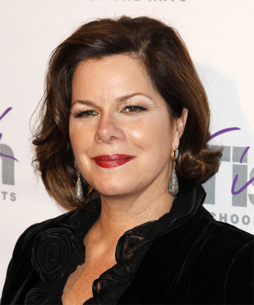 Marcia Gay Harden Medium Wavy Hairstyle - side view 2