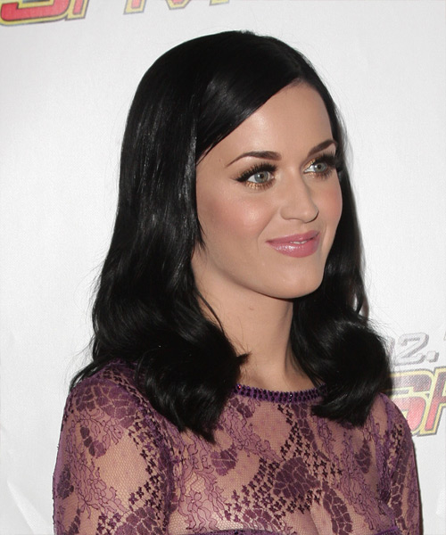 Katy Perry Medium Straight Hairstyle - side view 2