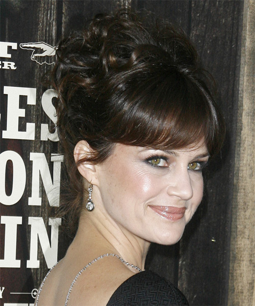 Carla Gugino - Formal Updo Long Curly Hairstyle - side view
