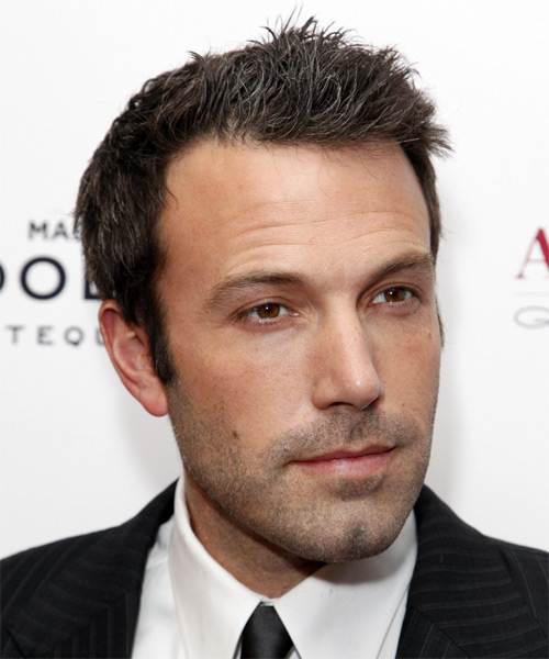 Ben Affleck Short Straight Casual Hairstyle - Dark Brunette Hair Color - side on view