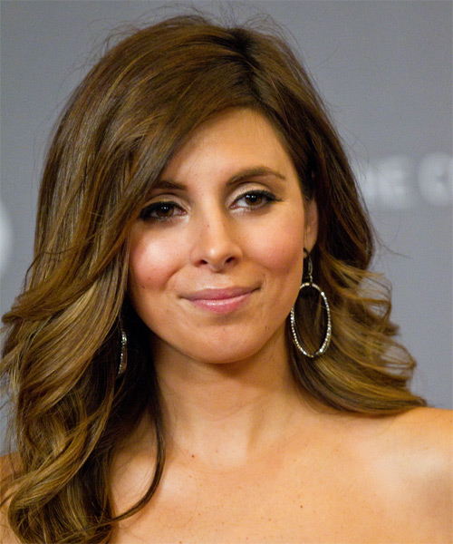 Jamie-Lynn Sigler Long Wavy Hairstyle - side view