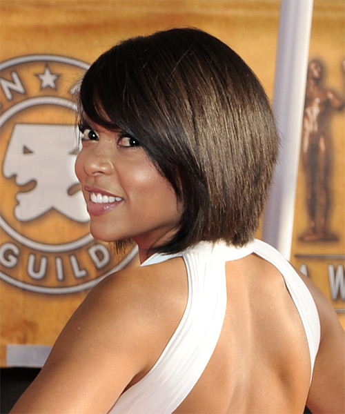 Taraji P. Henson Medium Straight Hairstyle - side view 2