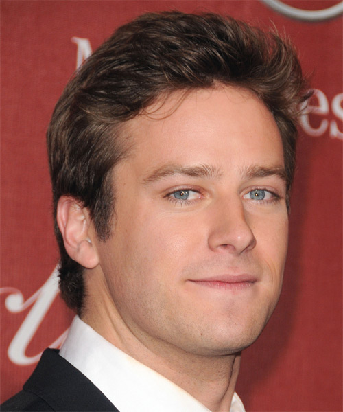 Armie Hammer Short Straight Hairstyle - side view 2