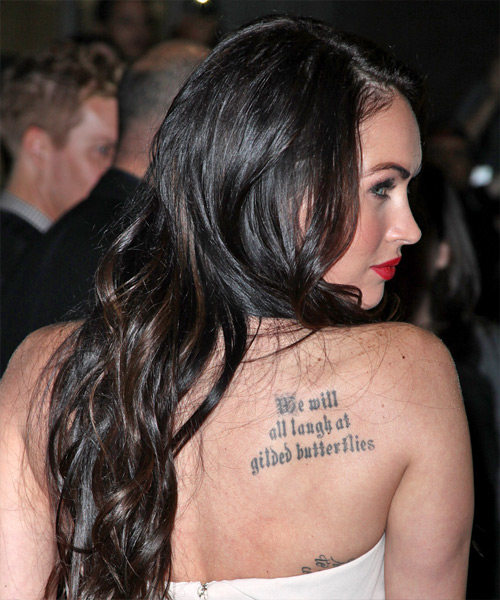 Megan Fox Long Wavy Hairstyle - side view
