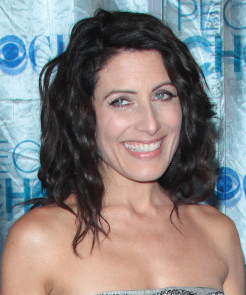 Lisa Edelstein - Casual Medium Wavy Hairstyle - side view
