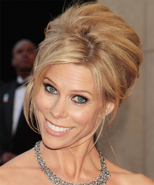 Cheryl Hines Formal Straight Updo Hairstyle - side view 2
