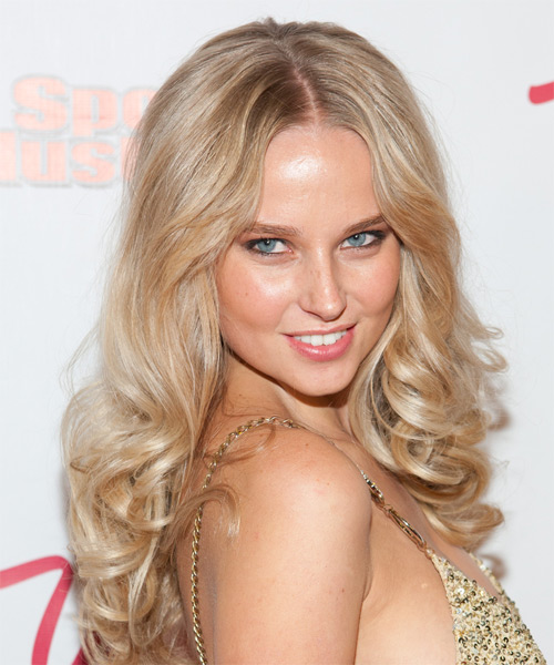 Genevieve Morton Long Curly Formal  - side on view