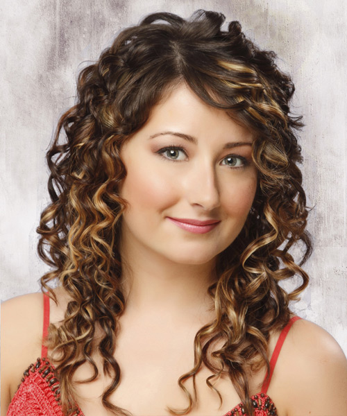 Enjoyable Long Curly Formal Hairstyle Medium Brunette Mocha Hairstyles For Women Draintrainus