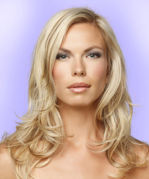 Long Straight Formal Hairstyle - Medium Blonde - side view 2