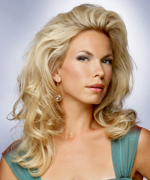 Medium Wavy Formal Hairstyle - Light Blonde - side view 2