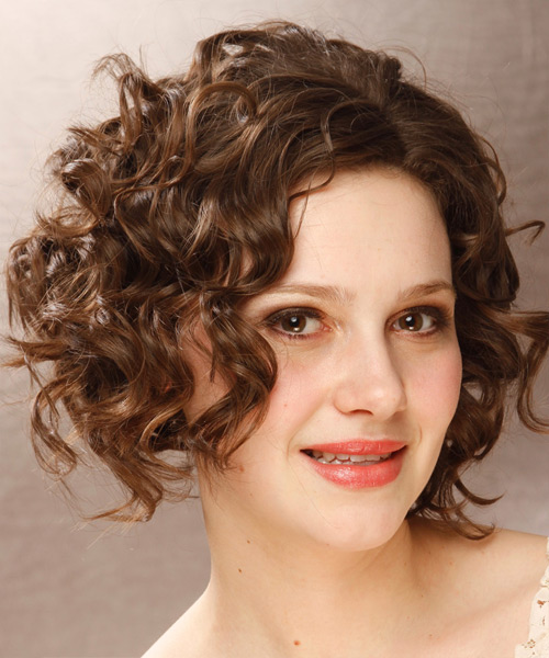 Awe Inspiring Short Curly Formal Hairstyle Medium Brunette Thehairstyler Com Hairstyle Inspiration Daily Dogsangcom