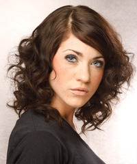Medium Curly Formal Hairstyle - click to view hairstyle information