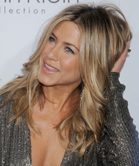 Jennifer Aniston Long Wavy Casual  - side on view