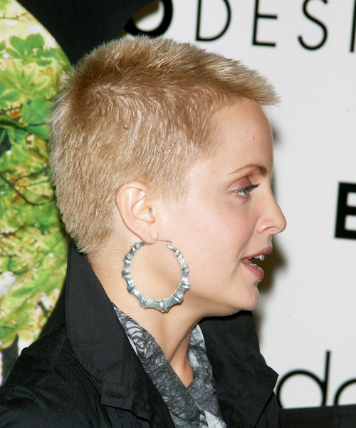 Mena Suvari Short Straight Hairstyle - side view 2